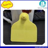 Marques d'oreille jaunes de couleur pour la vache à bétail