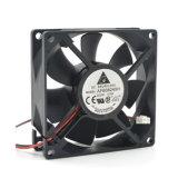 Чернота охлаждающего вентилятора C.P.U. PC вентилятора 7-Blade случая C.P.U. нового 8cmx8cmx2.5cm нового PC компьютера 3pin 12V молчком 8025 охлаждая