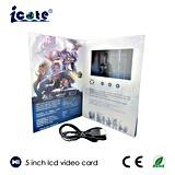 5.0'' de la tarjeta de regalo de aniversario de Vídeo LCD con resolución de pantalla 480*272 Cable USB para cargar