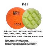 80mm almofada de polir Diamante Almofada de polir de resina de disco rígido