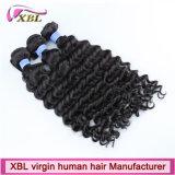 Prolonge ondulée crue normale de cheveu de Vierge de Péruviens des cheveux humains 100%