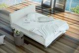 簡潔な様式の寝室の完全な革現代Ystadのベッド