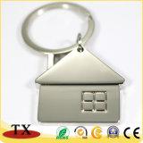 주문을 받아서 만들어진 집 모양 금속 아연 합금 열쇠 고리