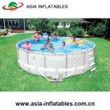 Résistant au-dessus de la masse du châssis en métal de la piscine piscine ronde