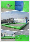 Fábrica de Guangzhou, cancha de voleibol inflable de flotación del agua