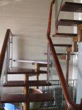 Escalera de acero inoxidable personalizados/escaleras con la banda de rodadura de madera