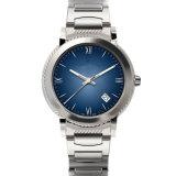 Personnalisé autour de la montre de dames de quartz d'acier inoxydable de cadran