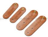 Bobine de fil USB en cuir OEM Clip du câble des écouteurs de l'enrouleur