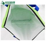 Зеленый экстренный большой охладитель кладет мешки в мешки застежки -молнии Tote несущей замораживателя плеча холодные