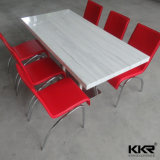 White solvently Surface Square restaurant Dining Table Tops