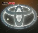 La galvanoplastie Chrome logo voiture rétroéclairé par LED ABS les panneaux pour Toyota