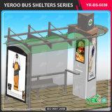 Nouvelle conception de meubles de la rue de la publicité l'abri de l'équipement Arrêt de bus numérique