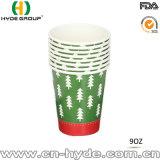 Taza de papel de encargo disponible del partido frío/caliente de la bebida para la Navidad