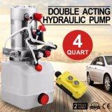Dump Trailer를 위한 두 배 Acting Hydraulic Pump 12V Dump Trailer -3 Quart Plastic Reservoir