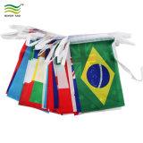 Poliéster promocional país multinacional Bunting banderas