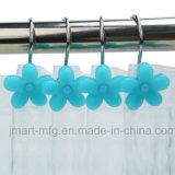 Декоративные крюки ливня смолаы цветка для занавеса штаног ливня ванной комнаты
