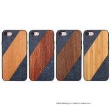 خشب فريدة طبيعيّة مع [بو] جلد ظهر هاتف حالة لأنّ [إيفون] [8/8بلوس/7/7بلوس]