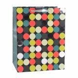 Bolsa de papel colorida del regalo del almacén de ropa de la manera del modelo de PUNTO de polca