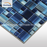 Mattonelle di vetro dipinte a mano di cristallo della piscina del mosaico dell'azzurro di blu marino