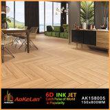 Tintenstrahlmatt-rustikale glasig-glänzende keramische Fußboden-Fliese mit hölzernem Entwurf