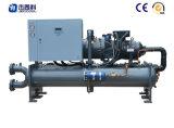 Refrigerador refrigerado por agua industrial de poco ruido del tornillo para la industria de impresión