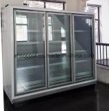 Frigorifero commerciale del portello di vetro per la visualizzazione delle bevande e delle bevande del supermercato