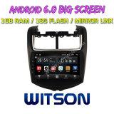 "Witson grande ecrã de 9"" com sistema Android 6.0 aluguer de DVD para Chevrolet Aveo 2014"