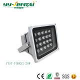 IP65를 가진 높은 Effiency 옥외 빛 6W/12W/20W/24W/30W/36W/48W LED 투광램프는 관을 골라낸다