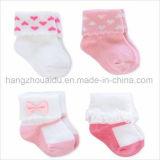 Установите противоскользящие девочка мальчик хлопка и толстые смешные носки 0-4 лет