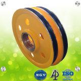 L'anello di alta qualità ha forgiato la puleggia della fune metallica per la gru