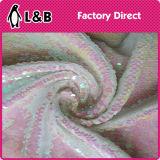 Tissu coloré de broderie de Sequin de mode de qualité