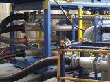 Acoplar la manguera de descarga de aceite con la brida ISO