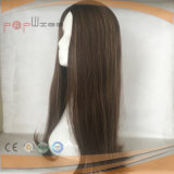 Cheveux humains de charme haut de la soie Sheitel perruque juif