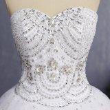 Амели скалистых 2018 Crystal Strapless рельефная тюль свадебные платья