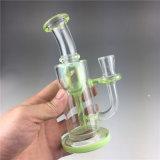 Novo Design Handblown Borossilicato high-end do tubo de água de vidro verde