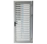 Metal exterior moderno design da porta de Tempestade com frestas de alumínio
