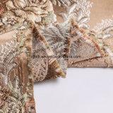 中国のカスタム高品質優雅なポリエステル美しく優雅な編まれたジャカードファブリック