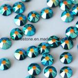 Самое новое самое лучшее 2018 продавая камень Preciosa экземпляра голубого Rhinestone Fix Ab Zircon Ss16 горячего стеклянный кристаллический (голубая ранг ab /5A zircon HF-ss16)