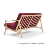 標準的な木フレームPUの革かファブリック余暇のソファー