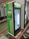 닫집을%s 가진 220L 유리제 단 하나 문 강직한 냉각기