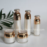 Frasco de cosméticos em acrílico branco pérola com vazio de bomba (NOVO FCP-097)