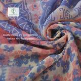 Voile Scarves Multicolor Cotton方法女性花によって印刷されるスカーフの工場