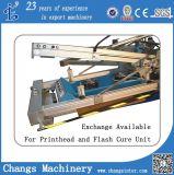 t-셔츠 또는 의복 또는 직물 또는 직물 또는 Non-Wovwoven 또는 가죽 Cardboard/PP, PVC 의 애완 동물 장 (serigrafia)를 위한 기계를 인쇄하는 자동적인 회전하는 회전 목마 스크린