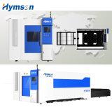Machine de découpage de laser de fibre de tôle de commande numérique par ordinateur de vitesse et de format de Larege