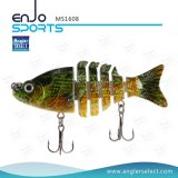 Multi-articulados Pesca Life-Like Minnow Lure Bass Bait Swimbait Shallow Artificial Fishing Tackle Fishing Bait (MS1608)