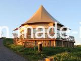Impermeable resistente a la llama resistente a los rayos UV camping tienda tienda de safari