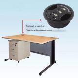 사무실 PC 책상 오디오 운반 플러그 실행을%s 가진 둥근 구멍 3 포트 USB 2.0 허브 변환기