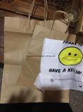 Uso por atacado super do mercado ou da loja do saco de papel do ofício com punho e furo