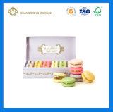 Rectángulo de papel rígido hecho a mano de encargo de la impresión colorida para el empaquetado de Macaron (con la bandeja plástica del PVC)