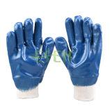 Nitrilvöllig beschichtetes Knit-Handgelenk Jersey, das glatte Ende-Handschuhe zeichnet